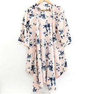 PinkBlush Navy and Pink Kimono Size Small